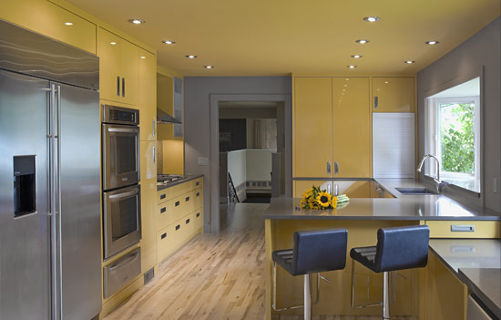 High gloss contemporary kitchen to match a modern family 39 s for Modern kitchen designs 2009