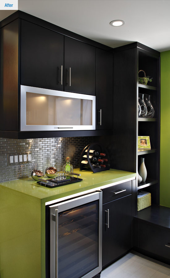 kitchen design canmore contemporary kitchen before amp after a study in green 315