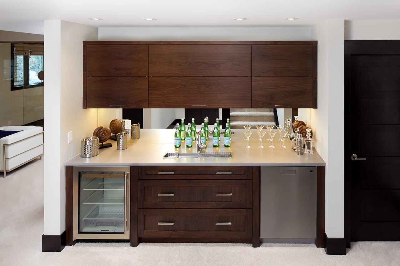 Modern Transitional Bar Design