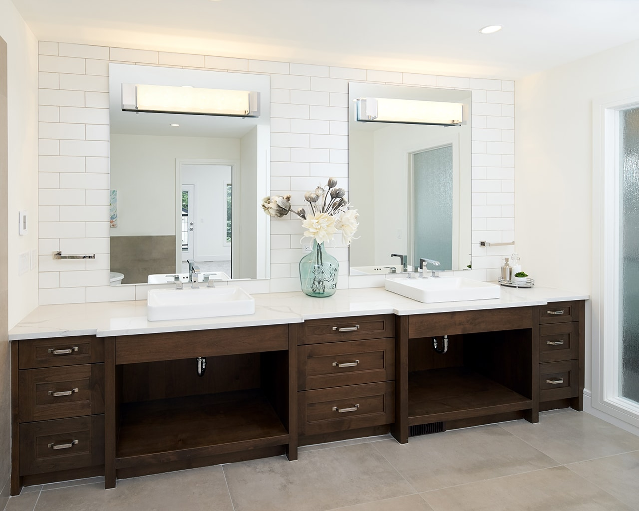 Transitional Bathroom with a Modern Twist
