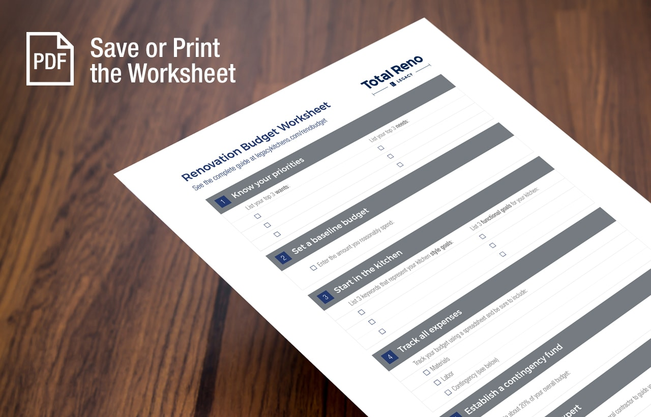Save or Print the Budget Worksheet in PDF Format